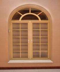 casement window with glass grid