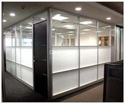 office partition with opening door